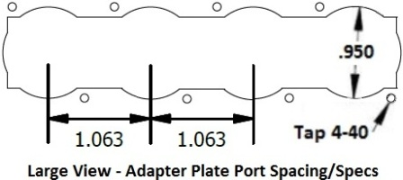Adapter Plate Hole Size Specs