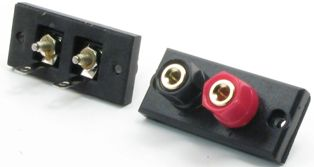 Dual Banana Plug/Binding Post Terminals - Gold