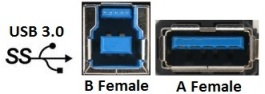NAUSB3 - USB 3.0 Bulkhead D-Series Mount - Nickel