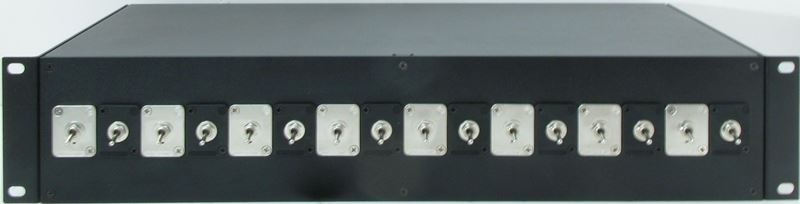 Toggle Switch to Spring Terminals and Banana Plug Rack Mount Enclosure