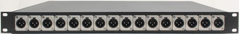 XLR to DB25 Rack Mount Enclosure