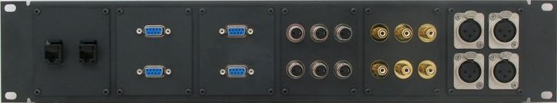 Custom Patch Panel Modular Plate Front View