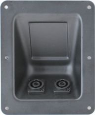 RDP6BX2D-NL4MP 4 Pole Speakon Recessed Dish Plate