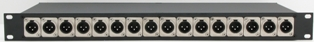 1RU 16 Port XLR Wired Enclosures