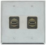 2 Port Double Gang USB 2.0 Face Plate
