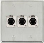 3 Port Double Gang Cat 5e Face Plate