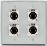 4 Port Double Gang Cat 5e Face Plate