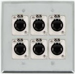 6 Port Double Gang Cat 5e Face Plate