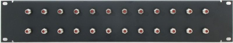 PPD24-FB1IS - F Patch Panel Front View