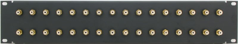 PPD32-RCASGIS - RCA Patch Panel Front View