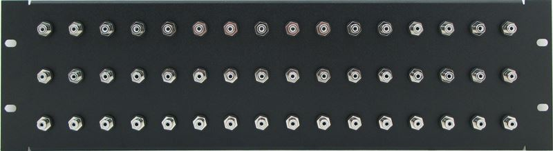 PPD48-RCABNIS - RCA Patch Panel Front View
