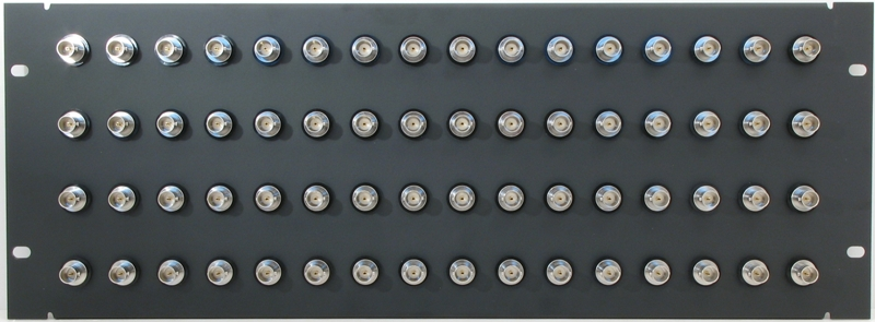 PPD64-BCJJRK – 12G-SDI BNC Patch Panel Front View