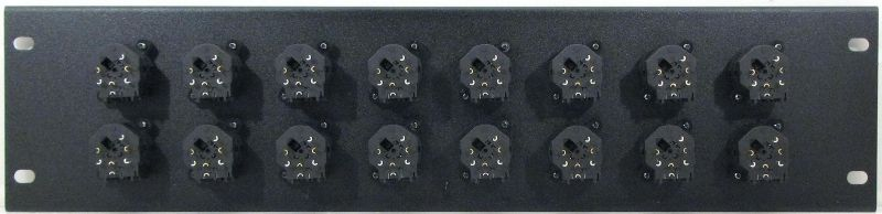 WPX16-NCJ6FIS – XLR/TRS Combo Wall Plate Rear View