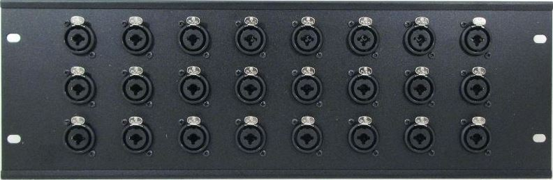 WPX24-NCJ6FIS – XLR/TRS Combo Wall Plate Front View